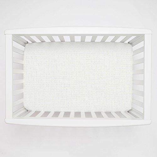 Sage Pin Dot - Carousel Designs Sage Pin Dot Mini Crib Sheet 5-Inch-6-Inch Depth - Organic 100% Cotton Fitted Mini Crib Sheet - Made in the USA
