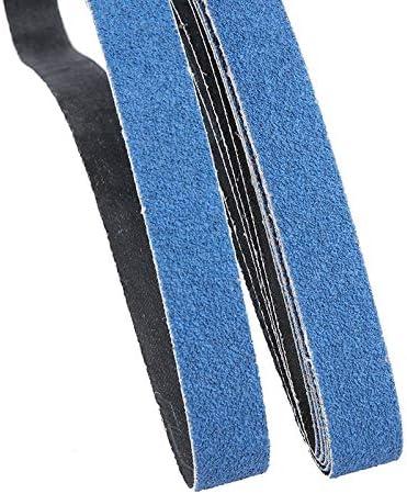 Moligh doll 5 Pz 25X760 Mm Cinghie Abrasive per Levigatrice un Nastro DAria Cinghia Smerigliatrice Ossido Di Alluminio per Metallo Molatura un Grana 60 per Legno Lucidatura Morbida