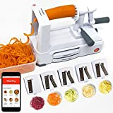 Mealthy 4335496302 Spiralizer, Small, White, Grey