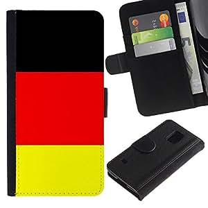 All Phone Most Case / Oferta Especial Cáscara Funda de cuero Monedero Cubierta de proteccion Caso / Wallet Case for Samsung Galaxy S5 V SM-G900 // Germany Flag