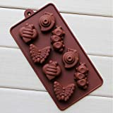 Bakeware & Accessories - Silicon Snail Caterpillar 8-Cup Cake Mold - Dragon Cake Mold Ladybug Insect Bugs Silicone Molds Dragonfly Candy - 1PCs