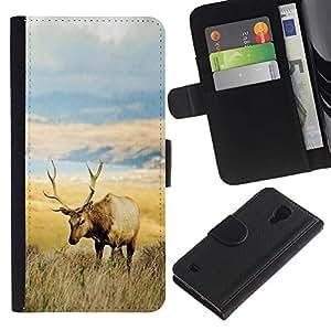 Stuss Case / Funda Carcasa PU de Cuero - El campo de los ciervos - Samsung Galaxy S4 IV I9500