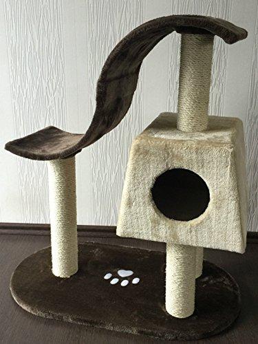 """Lemio - Árbol para gato """"Wave II"""" rascador para gatos (marrón - beige)"""