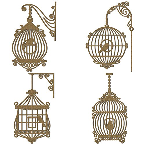 (Fancy Bird Cages Set 2 Scrapbooking Laser Cut Chipboard - 4 Piece Set)