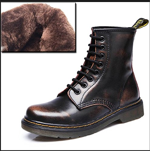 Genuine Punk Women up Ankle Shoes Brown Shoes Plus Jeff Tribble Size Woman Spring Leather 9 Boots Lace Fall Sp8FxwOq