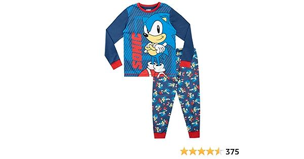Sonic The Hedgehog Pijamas de Manga Larga para niños: Amazon ...