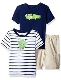 Boys' 3 Piece Shirt and Short Playwear Set