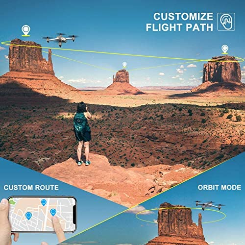 Potensic D80 GPS Drone with Camera for Adults, 2K FHD Camera, 2 Batteries 40 Mins Quadcopter with Brushless Motor, Auto Return Home, Follow Me, Long Control Range, Includes A Carrying Case-Sliver 51VjXvQYfXL