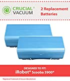 scooba irobot battery - 2 Replacements for iRobot 14.4v, 3500mAh Batteries Fit Scooba Series, Compatible With Part # 5900, Long Lasting & Rechargeable, by Think Crucial