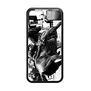Canting_Good Barrel Racing Cowgirl Custom Case Shell Skins for iPhone 5C TPU (Laser Technology)