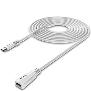 TUSITA Micro USB Power Extension Cable (20ft 6M) - Male to Female Extender Cord Replacement for Blink XT2 Outdoor Indoor Home,Ring Stick Up Solar Panel,Arlo Pro,Zmodo - Security Camera Accessories