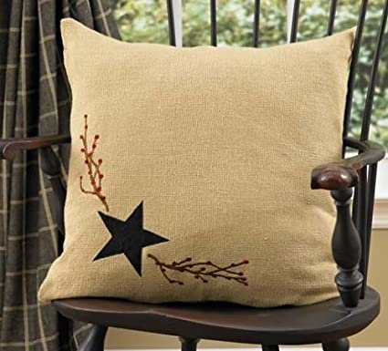 Amazon Park Designs Burlap Star Decorative Pillow Home Kitchen Gorgeous Burlap Star Decorative Pillow