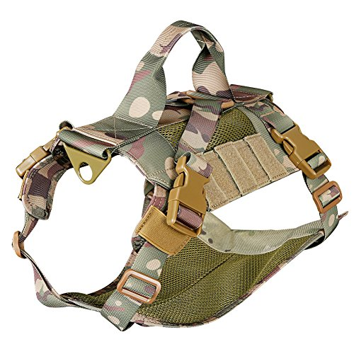 Outry Tactical Dog Vest, Adjustable Dog Training Vest, No-Pull Harness, One Size Fits Most - CP