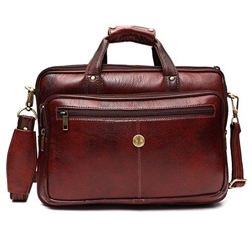 Hammonds Flycatcher Leather 15.6″ Brown Laptop Briefcase…