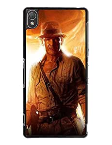 2015 Sony Xperia Z3 Cover, Advanced Indiana Jones Series [Non-Slip] Hard Plastic Case Cover for Sony Xperia Z3 8315422M391714459