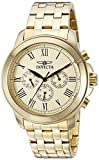 Invicta Men's 21658 Specialty Analog Display Swiss Quartz Gold-Plated Watch