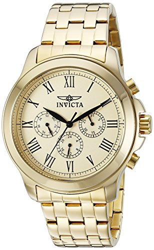 Invicta Men's 21658 Specialty Analog Display Swiss Quartz Gold-Plated - Plated Swiss Gold Watch