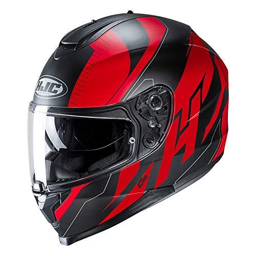 HJC 15127108 Motorrad Helm Schwarz//Rot M
