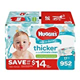 HUGGIES One and Done Refreshing Baby Wipes in Disposable Soft Packs are thicker for an ultimate clean (versus HUGGIES Simply Clean). Cucumber and green tea-scented, they have patented TripleClean Layers that get the job done. Alcohol-free and...