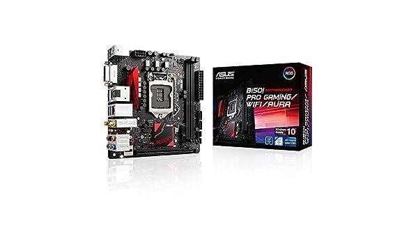ASUS B150I PRO GAMING/WIFI/AURA Series Intel B150 LGA1151 Mini ITX - Placa base (DIMM, DDR4-SDRAM, Intel, PC, Intel, Intel B150): Amazon.es: Informática