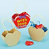Heart Craft Baskets for Kids to Decorate & use for Valentines Treats (Pack of 5)