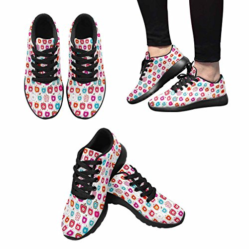 Interestprint Femmes Jogging Running Sneaker Léger Aller Facile Confort De Marche Sport Chaussures De Course Multi 5
