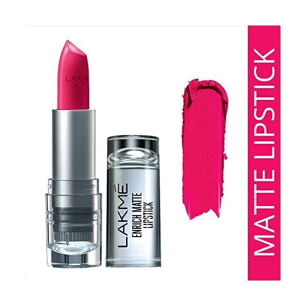Lakmé Enrich Matte Lipstick, Shade PM15, 4.7g 2021 July Lipstick now in a matte format for the first time Creamy matte texture that is comfortable to wear No drag on lips