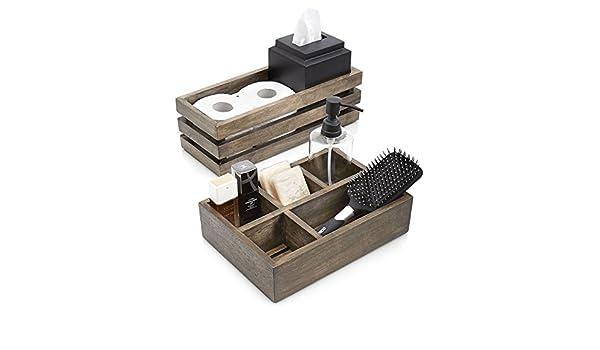 amazoncom paradigm trends 2 piece driftwood bathroom accessories driftwood bathroom accessories