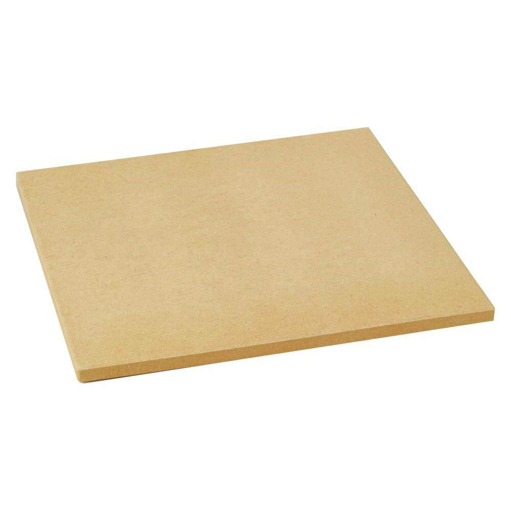 24208 15 Inch Square Pizza Stone for Indoor Ovens or Outdoor Grills, Brown with Ebook by oldzon