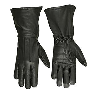 Hugger Men's Classic Motorcycle Gloves Unlined Seasonal Wind Stopper Gauntlet
