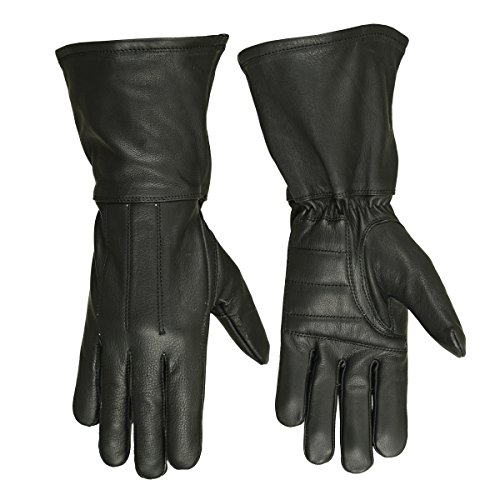 (Hugger Glove Company Men's Classic Unlined Seasonal Wind Stopper Gauntlet (Medium),Black)