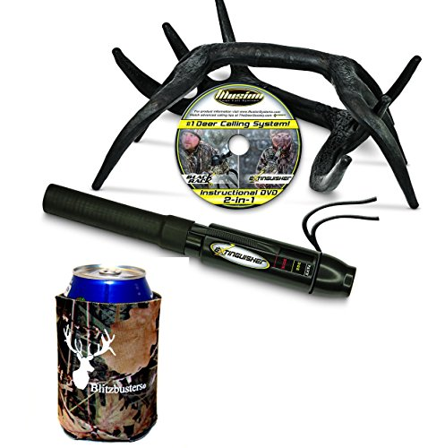 - Illusion Game Call Systems Extinguisher/Black Rack Deer Rattling System Combo + Free Camo Koozie