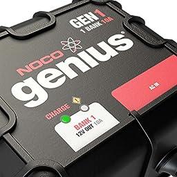 NOCO Genius GEN1 10 Amp 1-Bank Waterproof Smart On-Board Battery Charger