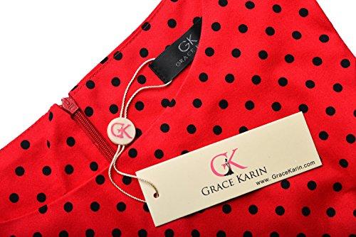 Grace Karin - Vestido sin mangas de la vendimia para mujer 2#