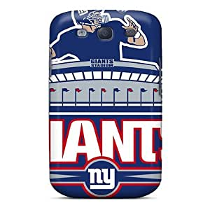 Galaxy S3 Hard Back With Bumper Silicone Gel Tpu Cases Covers New York Giants