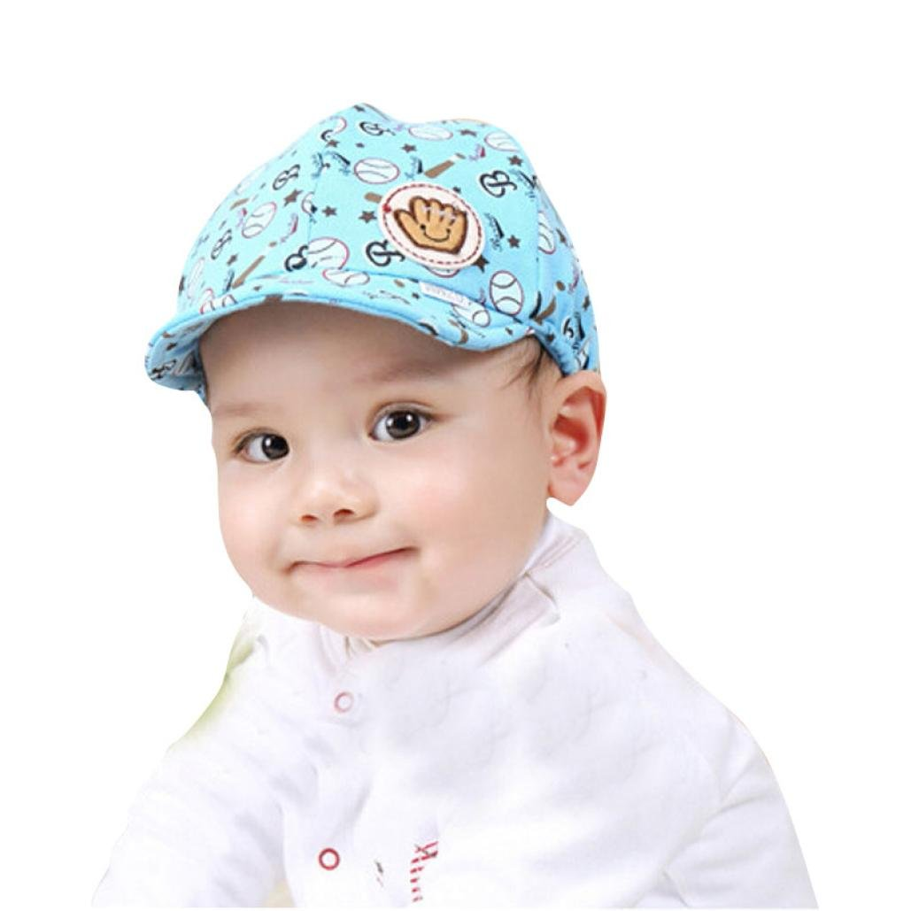 Amazon.com: Clearance! Toddler Baby Boy Cartoon Print Beret Cap Baseball Hat Summer Sun Hat Hip Hop Hat (A): Clothing