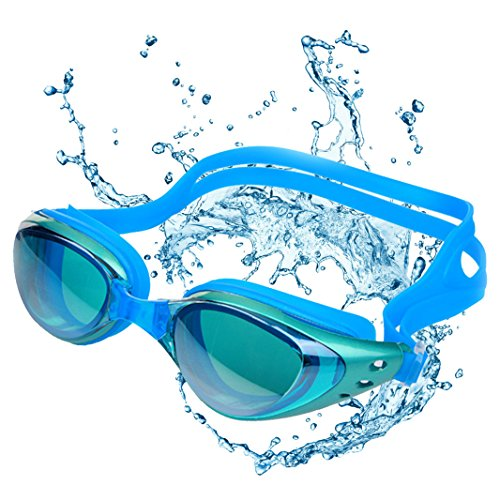 SERIOU Swim Goggles,Anti-Fog Lens Soft Silicone Frame Swimming Goggles for with 3 Nose Pieces