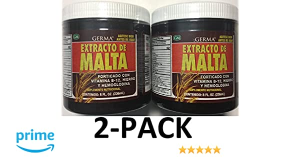 Amazon.com: Germa Malt Extract with Vitamins Reinforced with B-12, 8 oz. 2-Pack: Health & Personal Care