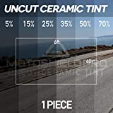 MotoShield Pro Uncut Ceramic Tint Film 40'' x 72'' (40 in by 6 ft) Any Tint Shade (25%)