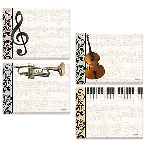 Music Sticky Notes - Set of 8 (4 designs)