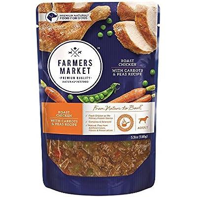 Farmers Market Pet Food Premium Natural Wet Dog Food Pouch, 5.3 oz (Case of 24)