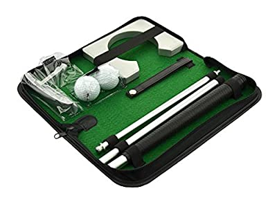 Posma PG020 Portable Golf Putting Gift Set Kit with Putter, 2pcs Balls, Putting Cup for Indoor outdoor Training Practice