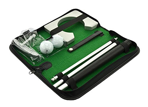 MMdex Portable Travel Indoor Golf Putter Kit, Ball Putter Training Set with Ball Hole-Cup For Golf Putting Practice
