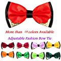 NUWFOR Adjustable Fashion Men Formal Wedding Bowtie Novelty Tuxedo Necktie Bow Tie