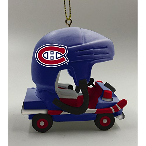 Team Sports America Montreal Canadiens Vintage Rink Cart Team Ornament - Montreal Canadiens Rink