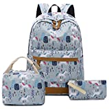 School Backpack Girls Bookbag Cute Schoolbag fit 15 inch Laptop Insulated Lunch Bag Purse for Teens Boys Kids Travel Daypack