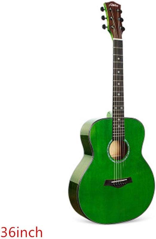 LOIKHGV Guitarras- 36 Guitarra Cutaway de 41 Pulgadas 6 Cuerdas ...