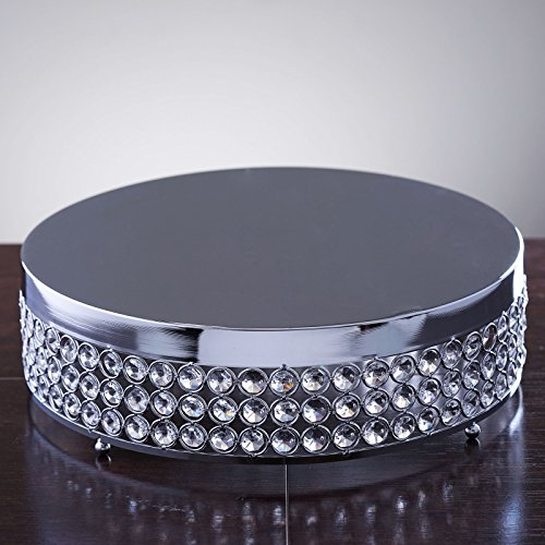 Efavormart Fancy Beaded Crystal Metal Cake Centerpiece Stand Wedding Birthday Party Dessert Cake Display Stand - 13.5