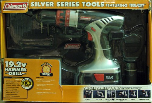 Coleman Silver Series 19.2V Cordless Professional Hammer Drill with Tool Port 19.2 Volt