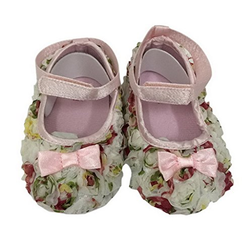 Bigood Lieb Baby Schuh 0-6 Monate Babyschuh Lauflernschuhe Krabbelschuhe Lace 12cm Bunt